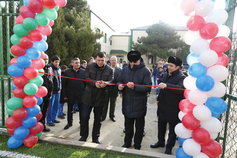 Открытие нового мини-футбольного поля в училище
